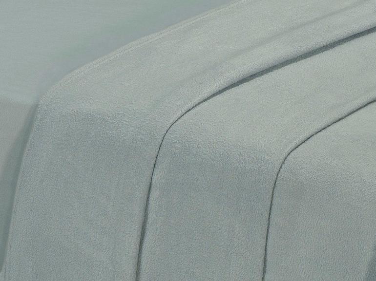 Jogo de Cama King Plush feito de Manta de Microfibra - Conforto Cinza Prata - Dui Design