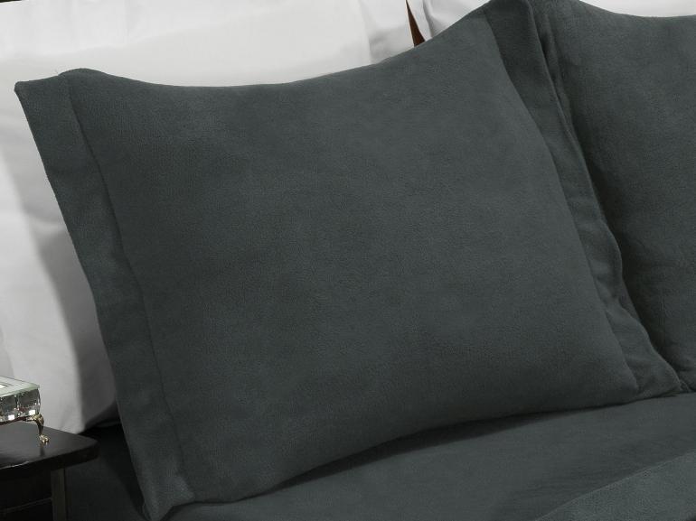 Jogo de Cama King Plush feito de Manta de Microfibra - Conforto Grafite - Dui Design