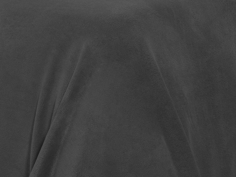 Jogo de Cama Solteiro Plush feito de Manta de Microfibra - Conforto Grafite - Dui Design