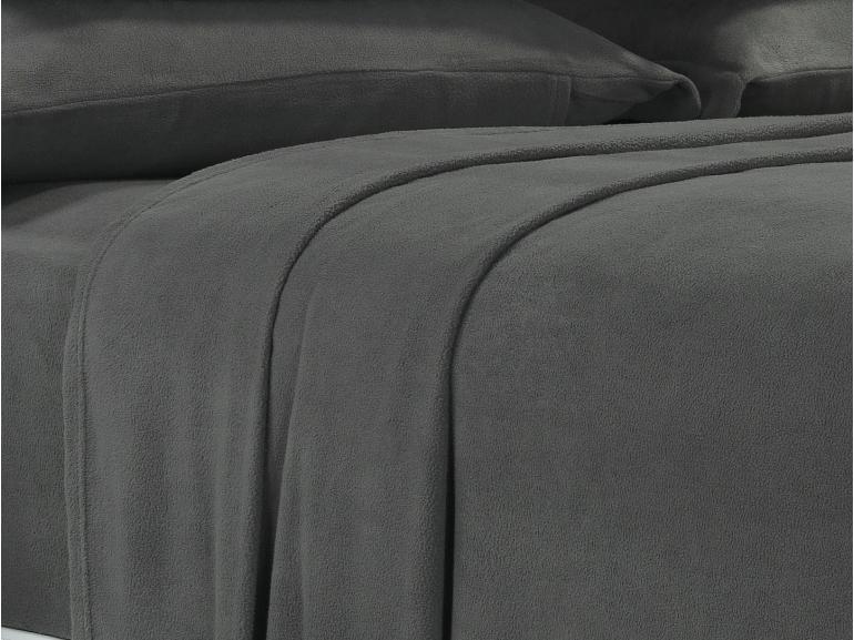 Jogo de Cama Casal Plush feito de Manta de Microfibra - Conforto Grafite - Dui Design