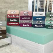 Lençol Plush Queen com elástico Avulso - Conforto - Dui Design