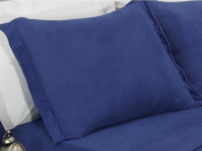 Jogo de Cama Queen Plush feito de Manta de Microfibra - Conforto Marinho - Dui Design