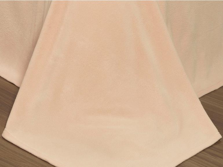 Jogo de Cama Solteiro Plush feito de Manta de Microfibra - Conforto Nude - Dui Design