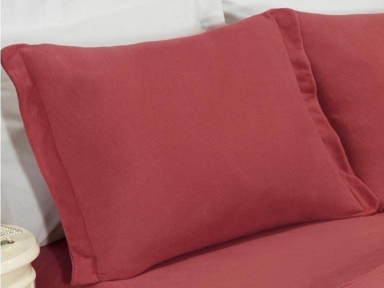 Jogo de Cama Solteiro Plush feito de Manta de Microfibra - Conforto Rosa Brick - Dui Design