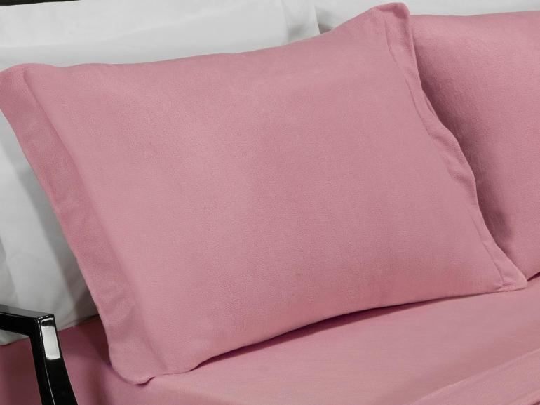 Jogo de Cama King Plush feito de Manta de Microfibra - Conforto Rosa Velho - Dui Design