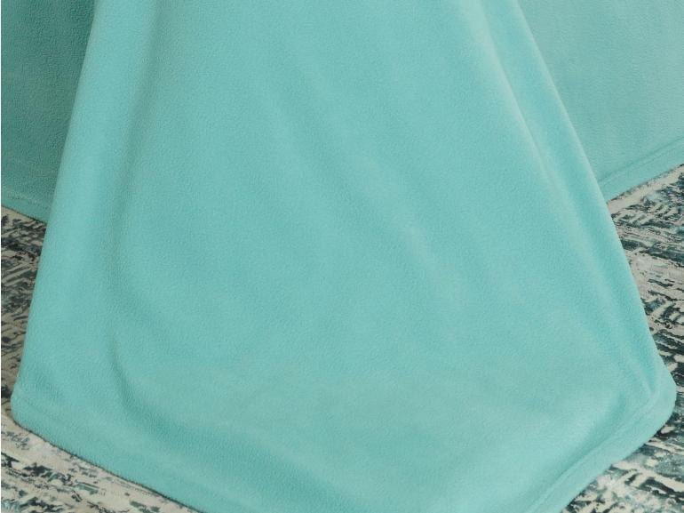 Jogo de Cama Queen Plush feito de Manta de Microfibra - Conforto Turquesa - Dui Design
