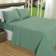 Jogo de Cama Casal Plush feito de Manta de Microfibra - Conforto Verde Granite - Dui Design