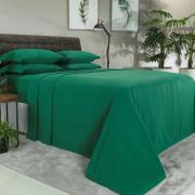 Jogo de Cama Queen Plush feito de Manta de Microfibra - Conforto Verde Ultramarine - Dui Design