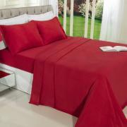 Jogo de Cama Solteiro Plush feito de Manta de Microfibra - Conforto Vermelho - Dui Design