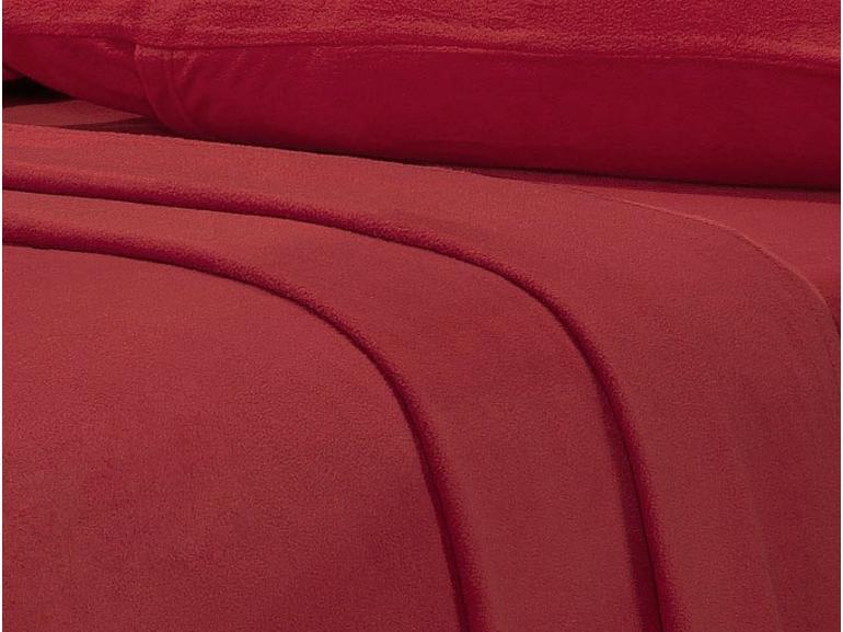 Jogo de Cama Casal Plush feito de Manta de Microfibra - Conforto Vermelho - Dui Design