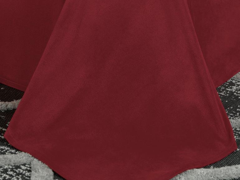 Jogo de Cama Queen Plush feito de Manta de Microfibra - Conforto Vermelho - Dui Design