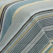 Kit: 1 Cobre-leito Casal + 2 Porta-travesseiros 150 fios - Continental Azul - Dui Design