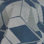 Kit: 1 Cobre-leito King Bouti de Microfibra Ultrasonic Estampada + 2 Porta-travesseiros - Cronos Azul - Dui Design