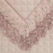 Jogo de Cama Casal Percal 200 fios com Bordado Inglês - Daisy Rosa - Dui Design