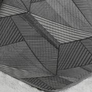 Kit: 1 Cobre-leito Queen Bouti de Microfibra Ultrasonic Estampada + 2 Porta-travesseiros - Davidson Cinza - Dui Design
