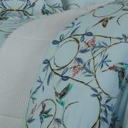 Jogo de Cama Queen Percal 200 fios - Danna Azul - Dui Design