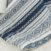 Jogo de Cama Queen 150 fios - Dante Azul - Teka