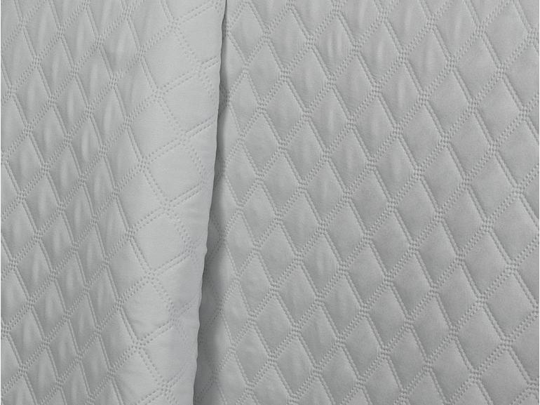 Kit: 1 Cobre-leito King Bouti de Microfibra Ultrasonic + 2 Porta-travesseiros - Davos Branco - Dui Design