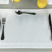 Jogo Americano 4 Lugares (4 peças) Fácil de Limpar 35x50cm - Davos Branco - Dui Design