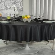 Toalha de Mesa Fácil de Limpar Redonda 220cm - Davos Preto - Dui Design