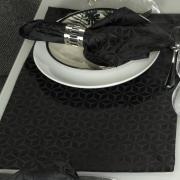 Jogo Americano 4 Lugares (4 peças) Fácil de Limpar 35x50cm - Davos Preto - Dui Design