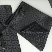 Kit: 4 Guardanapos 50x50cm - Davos Preto - Dui Design