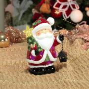Decoração Natal de Cerâmica com Led 16cm de altura - Chegada do Papai Noel - Dui Design