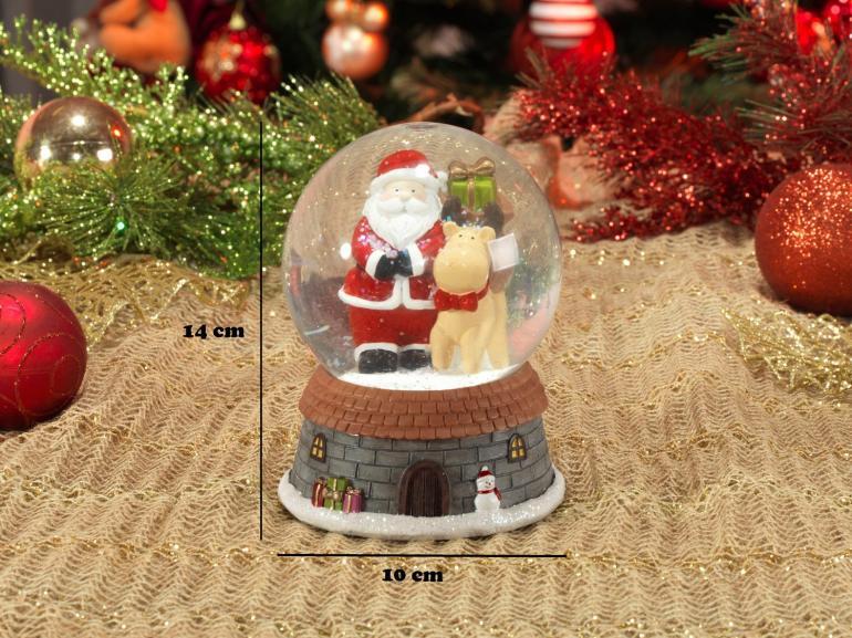 Decoração Natal de Cerâmica Globo com 14cm de altura - Nicolau - Dui Design