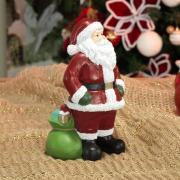 Decoração Natal de Poliresina com 20cm de altura - Nicolau Bondoso - Dui Design