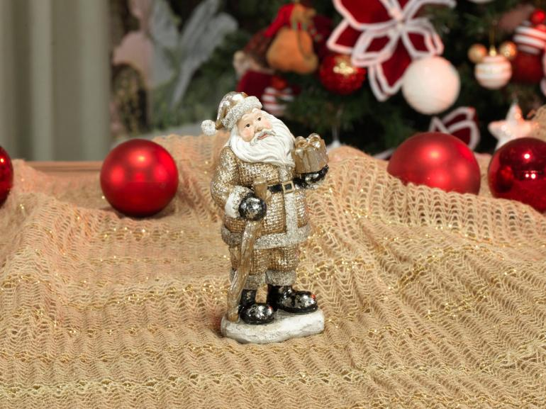 Decoração Natal de Poliresina com 16,5cm de altura - Nicolau Vintage - Dui Design