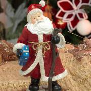 Decoração Natal de Poliresina com 23,8cm de altura - Papai Noel Tradicional - Dui Design