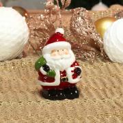 Decoração Natal de Cerâmica com 9,5cm de altura - Santa Claus - Dui Design