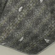 Kit: 1 Cobre-leito Casal Bouti de Microfibra Ultrasonic Estampada + 2 Porta-travesseiros - Denin Stone - Dui Design