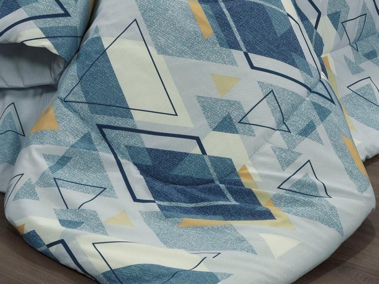 Edredom Solteiro Percal 200 fios - Denzel Azul - Dui Design