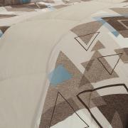 Edredom Solteiro Percal 200 fios - Denzel Noz Moscada - Dui Design