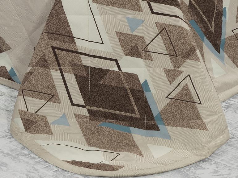 Enxoval King com Cobre-leito 7 peças Percal 200 fios - Denzel Noz Moscada - Dui Design