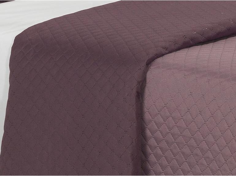 Kit: 1 Cobre-leito King Bouti de Microfibra Ultrasonic + 2 Porta-travesseiros - Diamond Uva - Dui Design