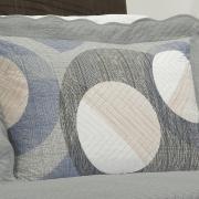 Kit: 1 Cobre-leito Casal Bouti de Microfibra Ultrasonic Estampada + 2 Porta-travesseiros - Dicaprio Cinza - Dui Design