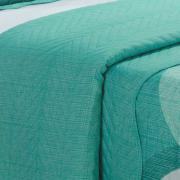 Kit: 1 Cobre-leito King Bouti de Microfibra Ultrasonic Estampada + 2 Porta-travesseiros - Dicaprio Turquesa - Dui Design