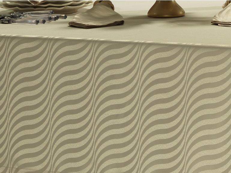 Toalha de Mesa Fácil de Limpar Retangular 8 Lugares 160x270cm - Dijon Bege - Dui Design