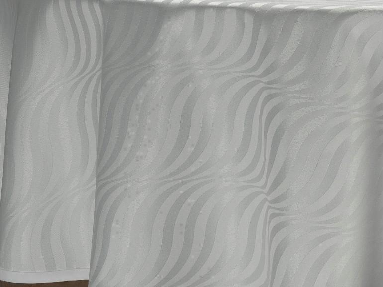 Toalha de Mesa Fácil de Limpar Redonda 220cm - Dijon Branco - Dui Design
