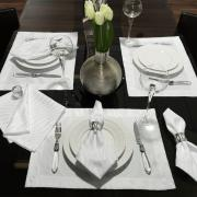Kit: 4 Guardanapos 50x50cm - Dijon Branco - Dui Design