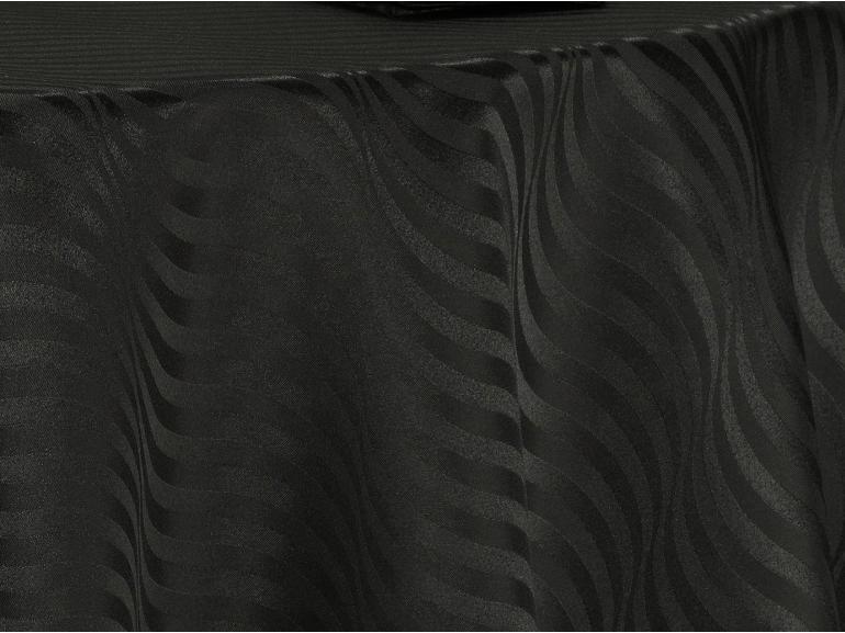 Toalha de Mesa Fácil de Limpar Redonda 220cm - Dijon Preto - Dui Design