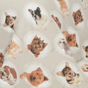 Jogo de Cama Casal 150 fios - Dog Show Cinza - Dui Design