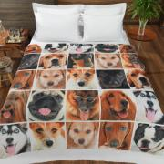 Cobertor Avulso King Flanelado com Estampa Digital - Dogs Faces - Dui Design