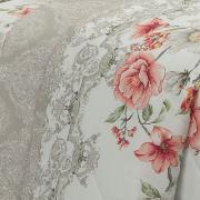 Kit: 1 Cobre-leito Solteiro + 1 Porta-travesseiro Percal 200 fios - Donatella Rosa - Dui Design