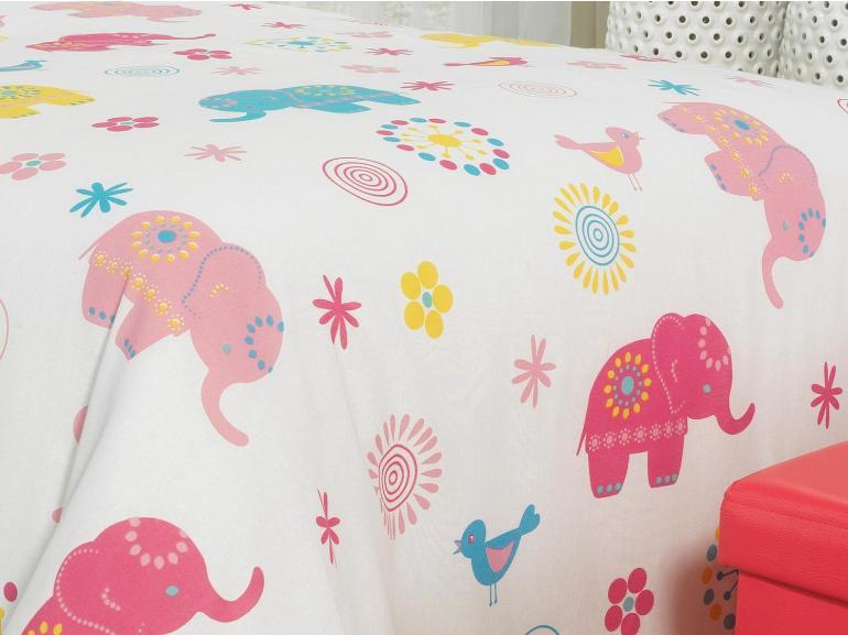 Jogo de Cama Solteiro Kids 100% Algodão - Elefantes - Teka