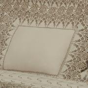 Jogo de Cama Casal Cetim de Algodão 300 fios com Bordado Inglês - Elegance Bege - Dui Design