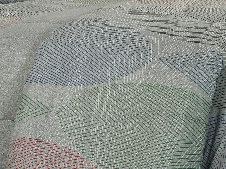 Edredom Solteiro 150 fios - Elementary Cinza - Dui Design