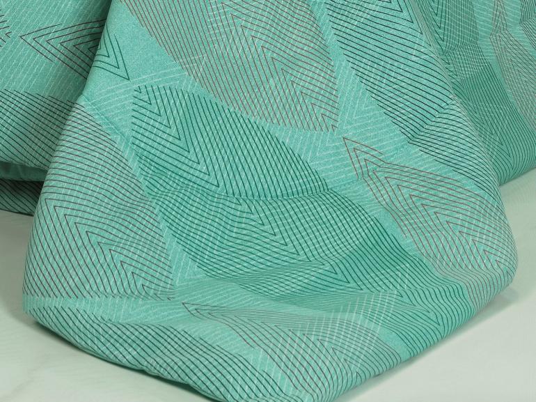 Edredom Solteiro 150 fios - Elementary Turquesa - Dui Design
